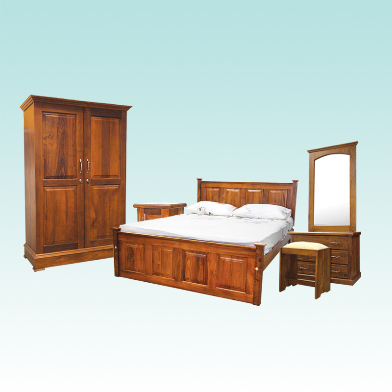 BEDROOM SET SONATA TEAK Arpico Furniture