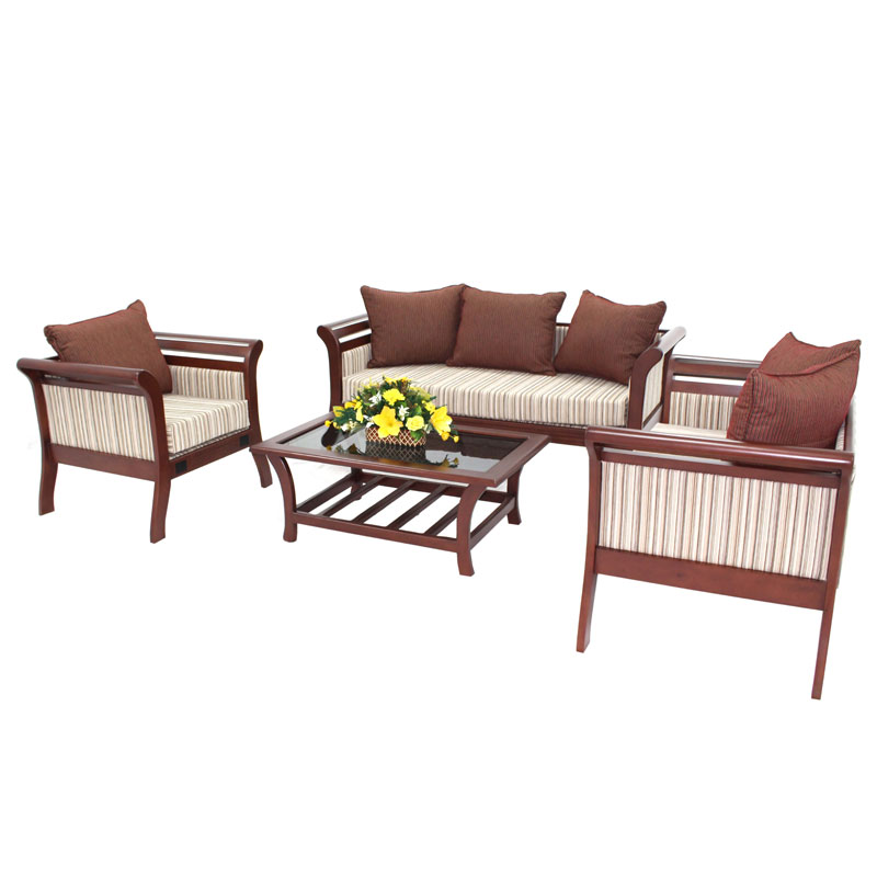 Living Room Set Bali Mahogany Arpico Furniture