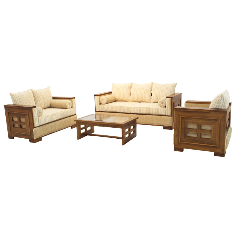 Living Room Set Sonic Teak Arpico Furniture
